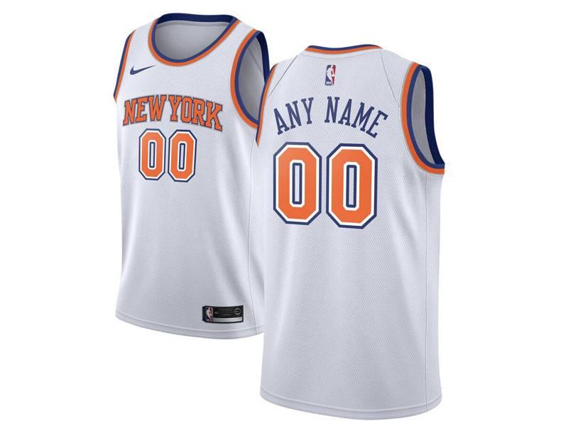 Mens Women Youth Nba New York Knicks Current Player White City Edition Nike Swingman Jersey
