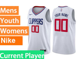 Mens Nba Nike Los Angeles Clippers Current Player White Swingman Jersey