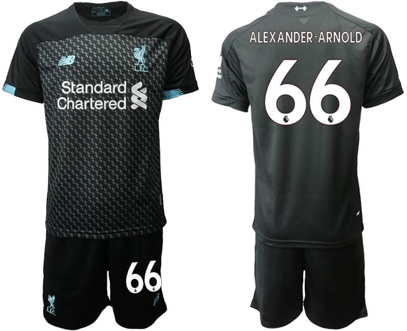 Mens 19-20 Soccer Liverpool Club #66 Alexander-arnold Black Second Away Short Sleeve Suit Jersey