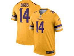 Mens Nfl Minnesota Vikings #14 Stefon Diggs Gold Nike Inverted Legend Jersey