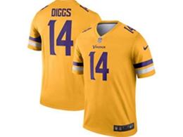 Mens Nfl Minnesota Vikings #14 Stefon Diggs Gold Nike Inverted Legend Jersey