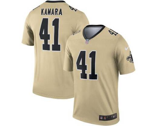 Mens Nfl New Orleans Saints #41 Alvin Kamara Gold Nike Inverted Legend Jersey