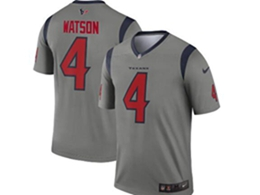 Mens Nfl Houston Texans #4 Deshaun Watson Gray Nike Inverted Legend Jersey