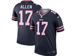 Mens Nfl Buffalo Bills #17 Josh Allen Navy Blue Nike Inverted Legend Jersey