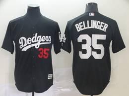 Mens Mlb Los Angeles Dodgers #35 Cody Bellinger Black Inverted Legend Cool Base Jersey