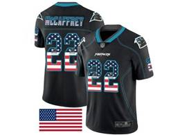 Mens Nfl Carolina Panthers #22 Christian Mccaffrey Usa Flag Fashion Black Vapor Untouchable Limited Jersey