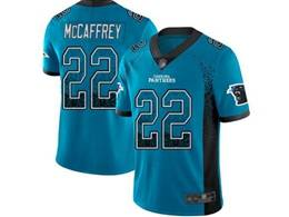 Mens Nfl Carolina Panthers #22 Christian Mccaffrey Blue Drift Fashion Vapor Untouchable Limited Jersey