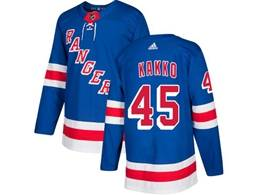 Mens Nhl New York Rangers #45 Kakko Blue Adidas Player Jersey