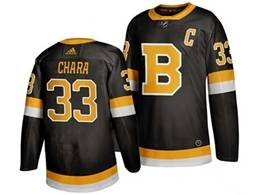 Mens Nhl Boston Bruins #33 Zdeno Chara Black Third Adidas Jersey