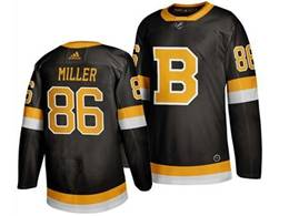Mens Nhl Boston Bruins #86 Miller Black Third Adidas Jersey