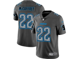Mens Nfl Carolina Panthers #22 Christian Mccaffrey Pro Line Gray Fashion Static Vapor Untouchable Limited Jersey