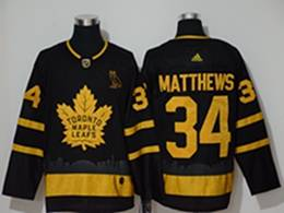 Mens Nhl Toronto Maple Leafs Leafs #34 Auston Matthews Black City Edition Adidas Jersey