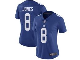 Women And Youth Nfl New York Giants #8 Daniel Jones Blue Vapor Untouchable Limited Player Jersey