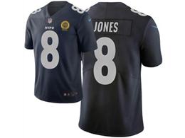 Mens Nfl New York Giants #8 Daniel Jones Navy Blue City Edition Nike Vapor Untouchable Limited Jersey