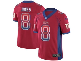 Mens Nfl New York Giants #8 Daniel Jones Red Drift Fashion Vapor Untouchable Limited Jersey