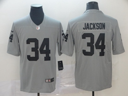Mens Nfl Oakland Raiders #34 Bo Jackson Gray Nike Inverted Legend Vapor Untouchable Limited Jersey