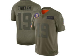 Mens Women 2019 New Nfl Minnesota Vikings #19 Adam Thielen Green Salute To Service Limited Jersey