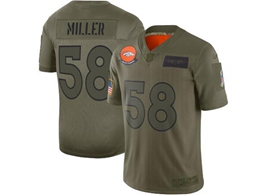 Mens Women 2019 New Nfl Denver Broncos #58 Von Miller Green Salute To Service Limited Jersey