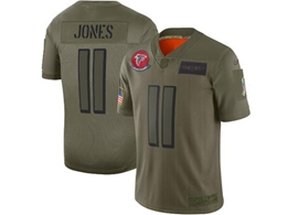 Mens Women 2019 New Nfl Atlanta Falcons #11 Julio Jones Green Salute To Service Limited Jersey