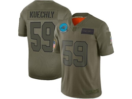 Mens Women 2019 New Nfl Carolina Panthers #59 Luke Kuechly Green Salute To Service Limited Jersey