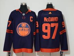 Mens Women Youth Nhl Edmonton Oilers #97 Connor Mcdavid Dark Blue Adidas 50th Jersey