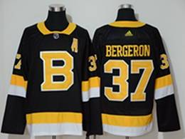 Mens Nhl Boston Bruins #37 Patrice Bergeron Black Third Adidas Jersey