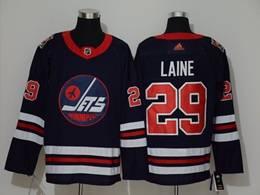 Mens Nhl Winnipeg Jets #29 Patrik Laine Navy Blue 2019 Heritage Classic Adidas Jersey