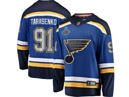 Mens Nhl St.louis Blues #91 Vladimir Tarasenko Blue 2019 Stanley Cup Champions Patch Player Jersey
