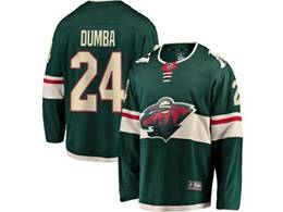 Mens Nhl Minnesota Wild #24 Matt Dumba Green Breakaway Player Jersey