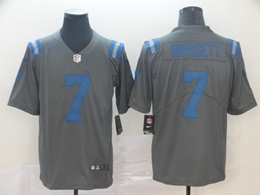 Mens Nfl Indianapolis Colts #7 Jacoby Brissett Gray Nike Inverted Legend Vapor Untouchable Limited Jersey