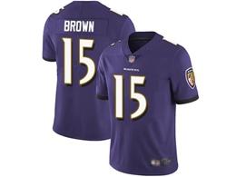 Mens Nfl Baltimore Ravens #15 Marquise Brown Purple Vapor Untouchable Limited Jersey