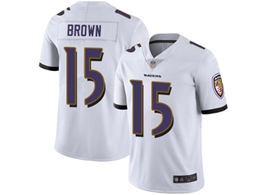 Mens Nfl Baltimore Ravens #15 Marquise Brown White Vapor Untouchable Limited Jersey