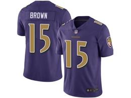 Mens Nfl Baltimore Ravens #15 Marquise Brown Purple Vapor Untouchable Color Rush Limited Jersey