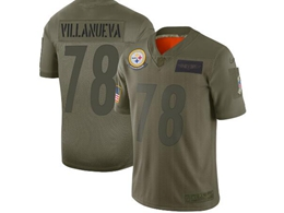 Mens Women 2019 New Nfl Pittsburgh Steelers #78 Alejandro Villanueva Green Salute To Service Limited Jersey