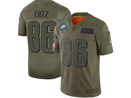 Mens Women 2019 New Nfl Philadelphia Eagles #86 Zach Ertz Green Salute To Service Limited Jersey