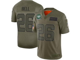 Mens Women 2019 New Nfl New York Jets #26 Le'veon Bell Green Salute To Service Limited Jersey
