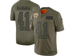 Mens Women Youth 2019 New Nfl New Orleans Saints #41 Alvin Kamara Green Salute To Service Limited Jersey
