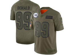 Mens Women 2019 New Nfl Los Angeles Rams #99 Aaron Donald Green Salute To Service Limited Jersey