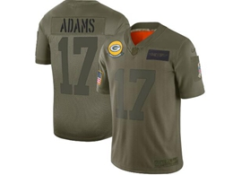 Mens Women 2019 New Nfl Green Bay Packers #17 Davante Adams Green Salute To Service Limited Jersey