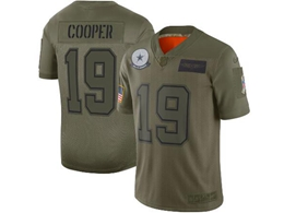 Mens Women 2019 New Nfl Dallas Cowboys #19 Amari Cooper Green Salute To Service Limited Jersey