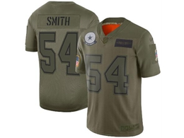 Mens Women 2019 New Nfl Dallas Cowboys #54 Jaylon Smith Green Salute To Service Limited Jersey