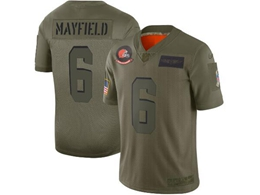Mens Women Nfl Cleveland Browns #6 Baker Mayfield Green 2019 Salute To Service Limited Jersey