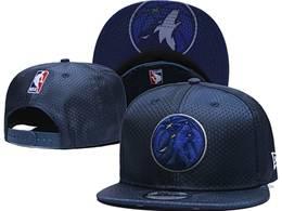 Mens Nba Minnesota Timberwolves Blue Snapback Hats
