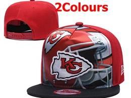 Mens Nfl Kansas City Chiefs Snapback Adjustable Hats 2 Colors