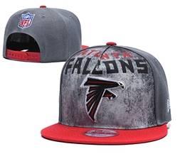 Mens Nfl Atlanta Falcons Gray Snapback Adjustable Hats