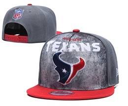 Mens Nfl Houston Texans Gray Snapback Adjustable Hats