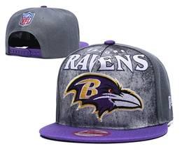 Mens Nfl Baltimore Ravens Gray Snapback Adjustable Hats
