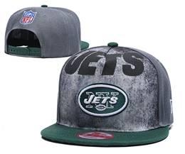 Mens Nfl New York Jets Gray Snapback Adjustable Hats