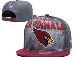 Mens Nfl Arizona Cardinals Gray Snapback Adjustable Hats