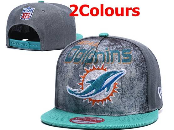 Mens Nfl Miami Dolphins Snapback Adjustable Hats 2 Colors